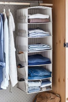 Keep your clothes and shoes organized with IKEA SVIRA hanging storage! It's the perfect addition to your clothing, shoe and accessory organization.