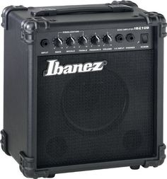 "Ibanez IBZ10B Rehearsal Rig 10-Watt Electric Bass Guitar Combo Amp by Ibanez. $69.99. Convenient. Compact. Lightweight. Inexpensive. Everything you expect from a small amp and something you don't expect: BIG TONES. Our electric guitar and bass Rehearsal Rigs provide the full and rich tone you must have to achieve plugged-in satisfaction. With a high output of 15W and an 8"" specialized speaker, IBZ15GR provides an intense sound, with full-fledged distortion and reverb. The ban..."