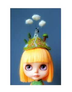 The Daydreamer Blythe Hat - MADE TO ORDER. $58.00, via Etsy.