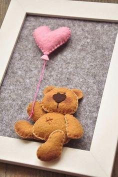 Bear/ frame/ heart/ baby gift