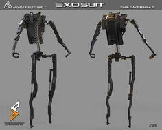 ArtStation - Exo Suit Project , Paul Dave Malla