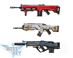 ArtStation - Project BlueStreak Aerator Assault Rifle Concept Set, Boss Key Productions Concept Art Depository
