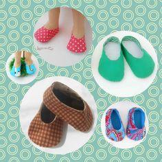scarpe per bambole - cartamodello e tutorial
