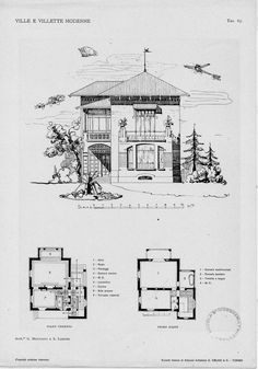 Villas and modern villas: projects and sketches of facades and plants  Tav. 67