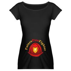 Future Fire Fighter Maternity Dark T-Shirt - Maternity Shirts - Ideas of Maternity Shirts - Now this is cool Someday down the road I will end up with one of these lol. Firefighter Baby Showers, Firefighter Family, Firefighters Wife, Firemen, Pregnancy Wardrobe, Pregnancy Shirts, Maternity Wardrobe, Maternity Shirts, Baby Pictures