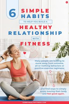 Many people are looking to move away from extreme, all-or-nothing behaviors or punitive exercise regimens; and find ways to simply enjoy moving their body and feel good again. If you can relate, I've included 6 healthy habits that people who have a balanced relationship with exercise have figured out. #sunnyhealthfitness #healthyhabits #fitness #healthyfitnessroutine #fitnessroutine #healthyroutine Health And Fitness Articles, You Fitness, Fitness Goals, Health And Wellness, Fitness Motivation, Health Fitness, Workout Regimen, Play Soccer, Outdoor Workouts