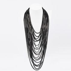 long-multy-chain-black-fr S/S 2016 Marina Fossati Bling Bling, Chain, Black, Jewelry, Fashion, Moda, Jewlery, Black People, Jewerly