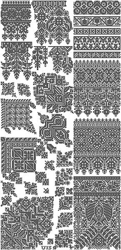 Moroccan cross stitch-This designer is brilliant, completely amazing samplers