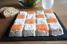 Terrine de saumon fumé et fromage frais moule tablette