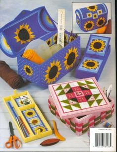 Plastic Canvas Crafts | craft baskets boxes plastic canvas patterns quilt design sewing craft ...