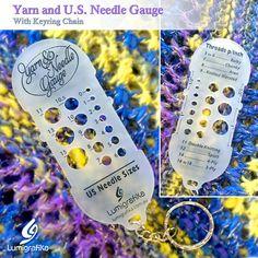Yarn and Needle Gauge (US sizes) Needle Gauge, Yarn Needle, Original Version, Double Knitting, Needles Sizes, Gauges, Creative, Handmade Gifts, Etsy