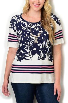 http://www.dhstyles.com/Ivory-Navy-Plus-Size-Trendy-Casual-Slinky-Floral-S-p/esse-6480x-ivory-navy.htm