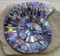 Mosaic Ammonite   Catherine Van Giap, Freshwater Mosaic Co.