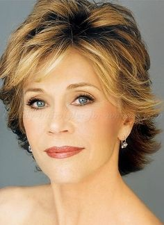 Jane Fonda Synthetic Hair Wig For Ladies Jane Fonda Hairstyles, 2015 Hairstyles, Short Hairstyles For Women, Trendy Hairstyles, Layered Hairstyles, Short Layered Haircuts, Short Hair Cuts For Women, Hair Pictures, Great Hair