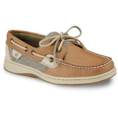 Sperry Linen Oat Bluefish Boat Shoe ($80) ❤ liked on Polyvore featuring shoes, loafers, linen oat, linen shoes, loafers moccasins, lace up moccasins, moccasin boat shoes and topsiders shoes