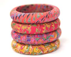 Bangles Accessories Fabric Red