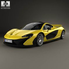 McLaren P1 with HQ interior 2014 3d model from humster3d.com. Price: $125