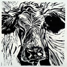 Cow 2 lino print | Flickr - Photo Sharing!