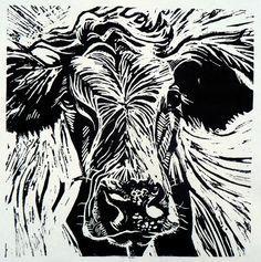 Cow 2 lino print | Flickr - Photo Sharing!
