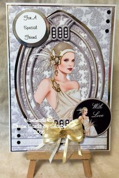 Debbi Moore Paris cd rom Diy Home Crafts, Crafts To Sell, Gatsby, Kanban Crafts, Debbie Moore, Rap, Art Deco Cards, Easel Cards, Pretty Cards