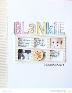 Blankie *Scrapbook Kit Only* by AprilFoster at Studio Calico