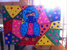 In de stijl van Braziliaanse kunstenaar Romero Britto groep 6