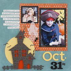 Build a Spooky Halloween Paper Piecing on Your Scrapbook Page