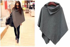 Easy poncho....with style