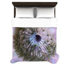 Alison Coxon Dandelion Clock Duvet Cover | KESS InHouse - #KessInhouse #KESS #Bedding #Home #AlisonCoxon