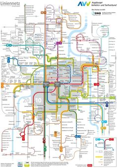 Augsburg transport map Transport Map, Public Transport, I Think Map, Underground Map, System Map, Snitches Get Stitches, Metro Map, World History Lessons, Subway Map
