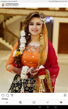 Discover thousands of images about Sarah Mehndi Outfit, Mehndi Dress, Pakistani Wedding Outfits, Pakistani Wedding Dresses, Bridal Makeup Looks, Bridal Beauty, Shadi Dresses, Afghan Dresses, Bridal Photoshoot