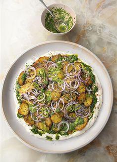 Yotam Ottolenghi, Ottolenghi Recipes, Potato Recipes, Vegetable Recipes, Indian Food Recipes, Ethnic Recipes, Chaat Masala, Comfort Food, Food Processor Recipes