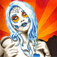 June Dreaming of December - Day of the Dead Style Art Print by ShayneoftheDead