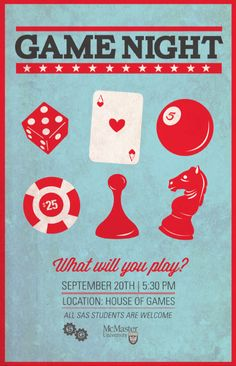 Game Night Flyer   + posters & graphic design   Pinterest ...