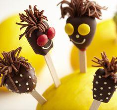 Owocowo-czekoladowe Lizaki-Cudaki #lidl #przepis #lizaki #owoce #dzien #dziecka