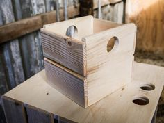 Custom Built Wooden Crates in Any Size Natural Wood by Jonatis