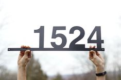 House Numbers/ Metal Address Sing / Up to 5 digits / 6 x