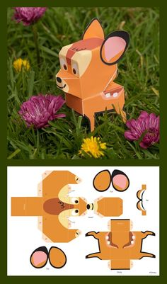 Bambi printable paper toy