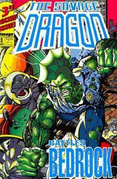 Savage Dragon Rock This Town By Erik Larson Free Comic Books, Vintage Comic Books, Comic Book Covers, Dragon Comic, Savage Dragon, Dragon Series, Alternative Comics, Image Cover, Dragon Images