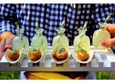 Mini Margaritas + Tacos I Tim LaBant Catering & Events I See more @WeddingWire I #weddingfood