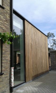 Wooden Cladding, Wooden Facade, Brick In The Wall, Plywood Panels, Wood Architecture, House Extensions, Home Renovation, My Dream Home, Home Projects