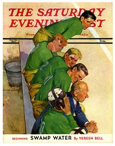 1940 The Saturday Evening Post, On The Losing Side by Emery Clarke.