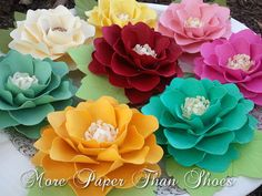 Paper Flowers Weddings Birthdays by morepaperthanshoes on Etsy