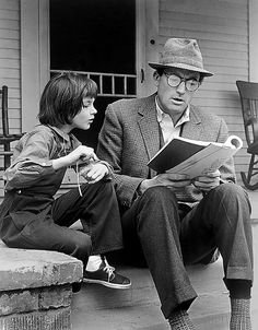 "Scout and her Dad... ""to kill a mocking bird"""