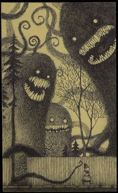 Art,Black and white,Furry,Fuzzy,Monster,Monsters - inspiring picture on PicShip.com