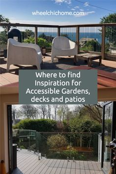 When looking for inspiration for an accessible garden, deck or patio, don't just look at other accessible gardens, why not take a look around for other beautiful gardens and take ideas that you can modify for your needs? My blog post has a lot of ideas on where to find inspiration, why not take a look? Raised Planter, Relaxing Places, Garden Hose, Garden Inspiration, Beautiful Gardens, Outdoor Spaces, Outdoor Gardens, Pergola, Deck