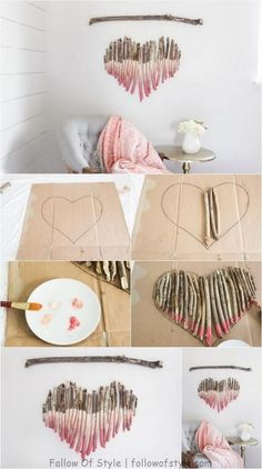 How to Make an Interesting Art Piece Using Tree Branches DIY Fun fun and easy diy crafts to do at home - Fun Diy Crafts Diy Wand, Fun Diy Crafts, Decor Crafts, Baby Crafts, Kids Crafts, Creative Crafts, Fun Crafts For Teens, Diy Baby Gifts, Diy Gifts For Kids