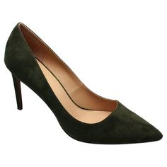 Women's Who What Wear Ally Microsuede Pumps - Green 8.5
