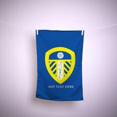Leeds United FC Official Personalised Pink LUFC Crest Kitchen Tea Towel LTT013