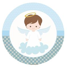 Christening with theme - Christening with theme - Baptism Party, Boy Baptism, Christening, Baptism Cookies, Angel Theme, Ideas Para Fiestas, First Holy Communion, Baby Scrapbook, Holidays And Events